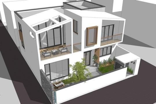 占地13x11二层带庭院自建别墅设计全套施工图
