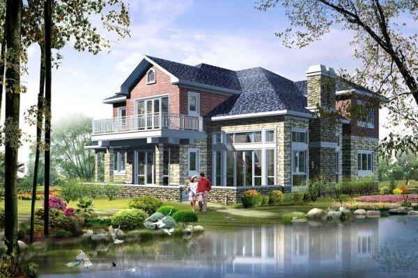 占地18x15二层带车库挑空自建别墅设计全套施工图