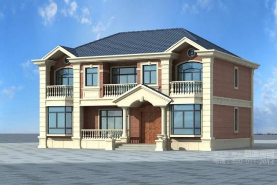 占地15x11二层欧式风格自建别墅设计全套施工图