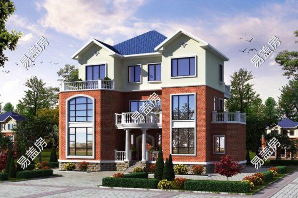 占地18x13三层带露台自建别墅设计全套施工图