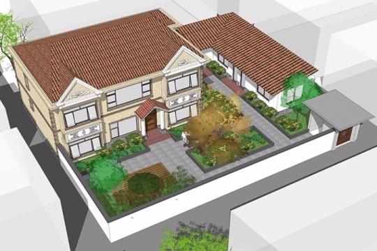 占地24x15二层带庭院自建别墅设计全套施工图