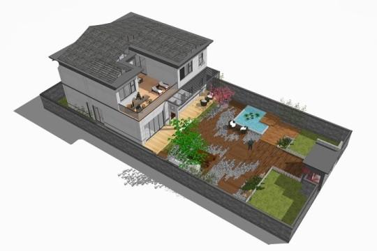 占地15x33二层带庭院自建别墅设计全套施工图