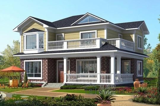 占地12x9二层带露台自建别墅设计全套施工图