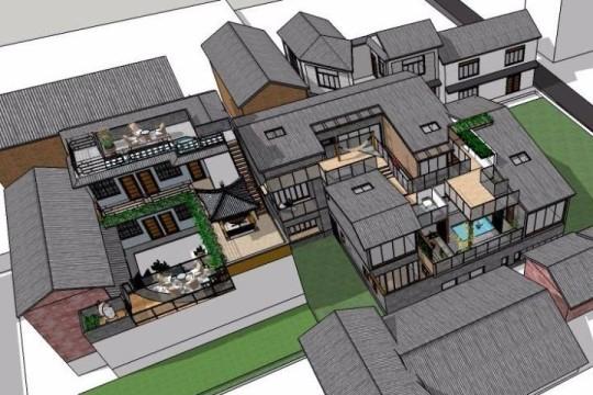 占地25x20二层带庭院自建别墅设计全套施工图