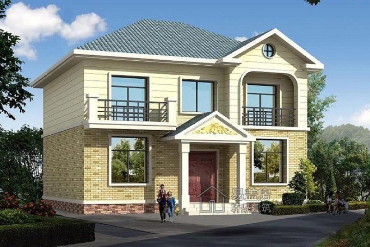 占地10x9二层欧式风格自建别墅设计全套施工图