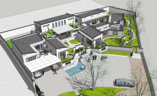 占地30x30一层自建四合院设计全套施工图