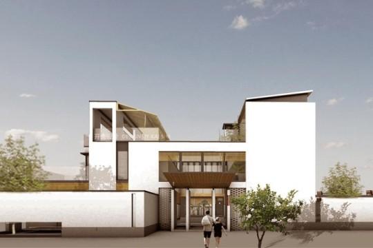占地90x60三层带庭院自建别墅设计全套施工图