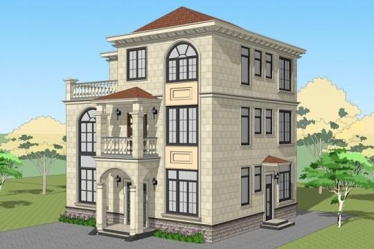 占地11x10三层带露台自建别墅设计全套施工图