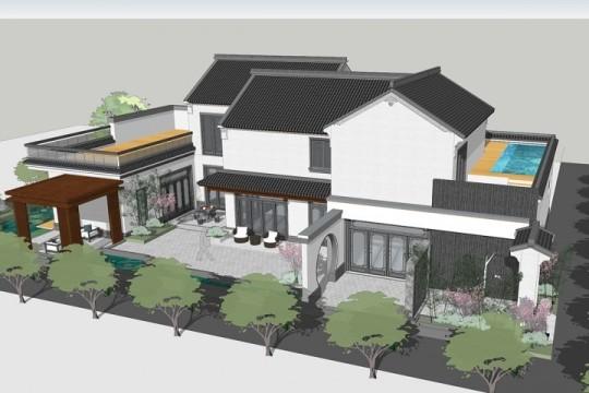 占地14x26二层带泳池自建别墅设计全套施工图