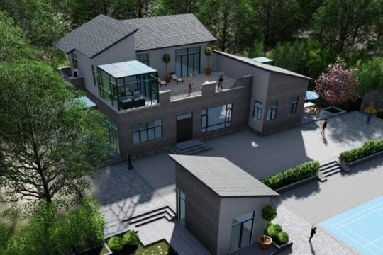 占地25x14二层带露台自建别墅设计全套施工图