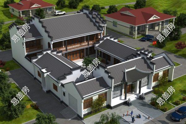 占地23x33二层自建四合院设计全套施工图