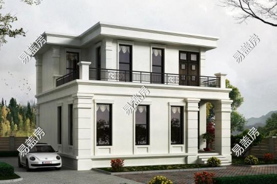 占地11x11二层带露台自建别墅设计全套施工图