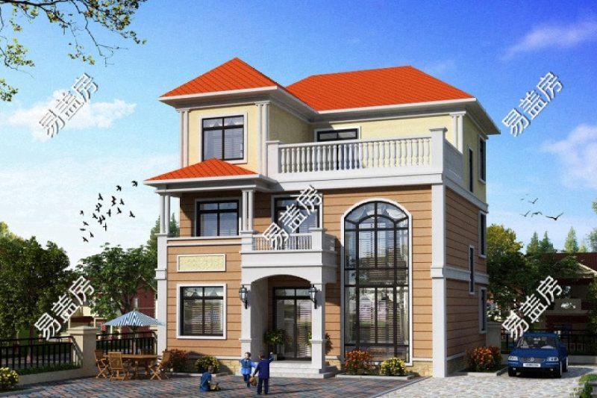 占地10x12三层带露台自建别墅设计全套施工图