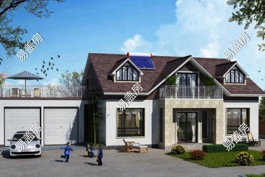 占地12x9二层带阁楼自建别墅设计全套施工图
