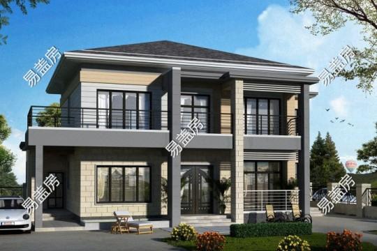占地16x10二层带露台自建别墅设计全套施工图