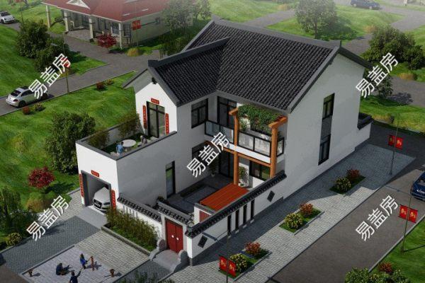 占地10x23二层带庭院露台自建别墅设计全套施工图