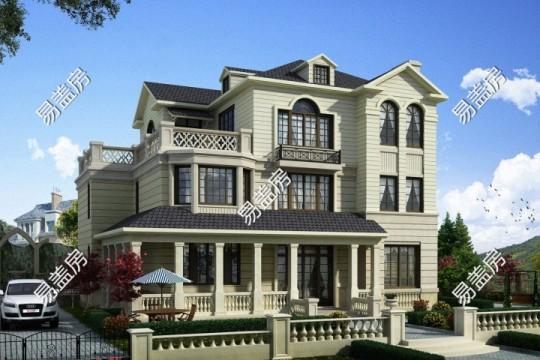 占地16x13三层带露台自建别墅设计全套施工图