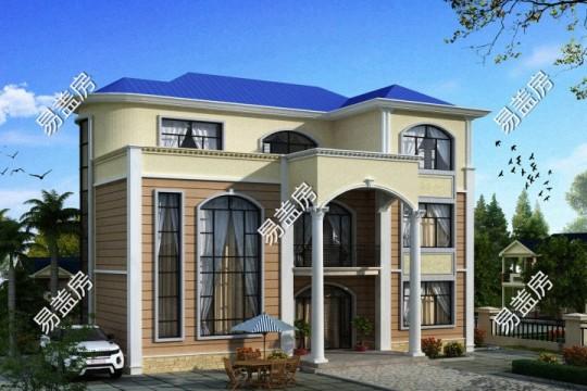 占地15x11三层带露台自建别墅设计全套施工图