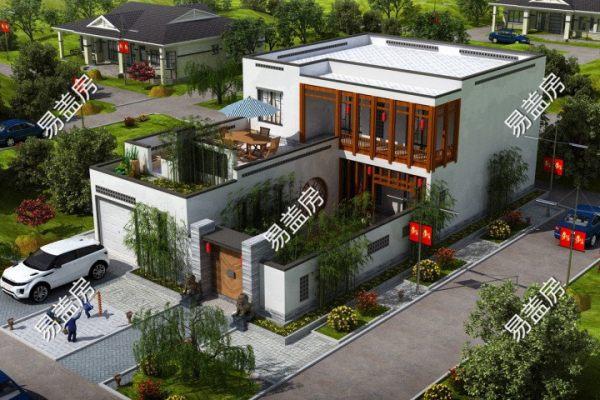 占地12x21二层带庭院自建别墅设计全套施工图
