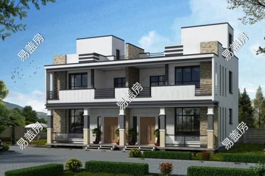 占地15x9二层双拼自建别墅设计全套施工图