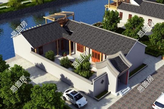占地22x15一層帶庭院自建別墅設計全套施工圖