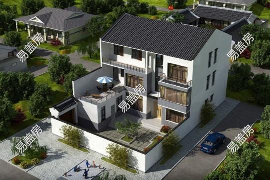 占地15x22三层带庭院自建别墅设计全套施工图