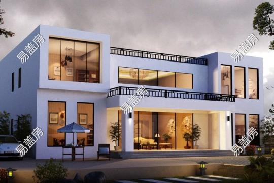 占地19x13二层挑空自建别墅设计全套施工图