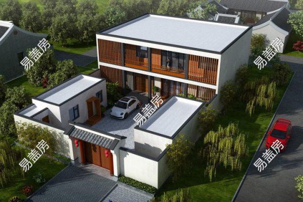 占地15x26二层带庭院自建别墅设计全套施工图