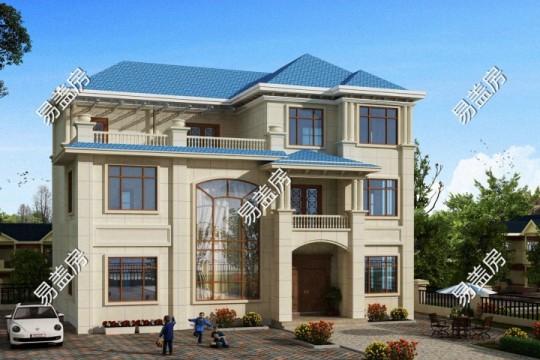 占地15x12san 层带露台自建别墅设计全套施工图