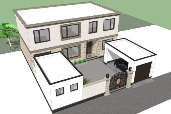 占地14x17二层带车库庭院自建别墅设计全套施工图