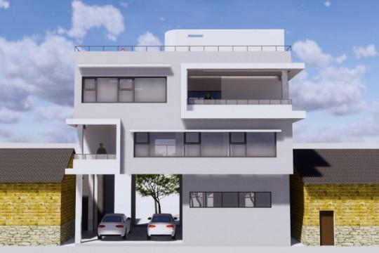 占地12x9三层带车库自建别墅设计全套施工图