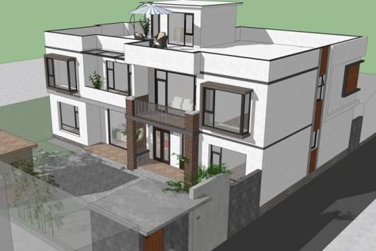 占地18x12二层带天台自建别墅设计全套施工图