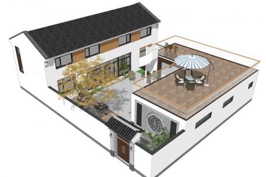 占地16x20二层带庭院自建别墅设计全套施工图