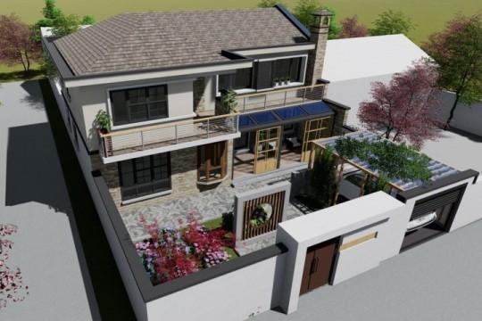 占地14x10二层带庭院自建别墅设计全套施工图