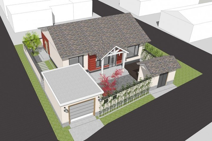 占地13x10一層帶車庫自建別墅設計全套施工圖