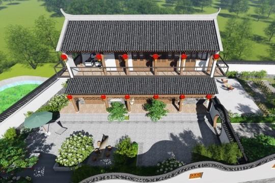占地15x6二层带庭院自建别墅设计全套施工图