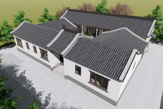 占地20x18一层带庭院自建别墅设计全套施工图