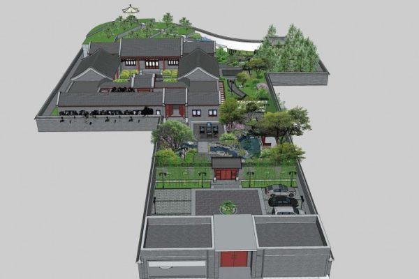 占地31x36一层自建四合院设计全套施工图