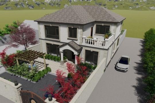 占地12x12二层带露台自建别墅设计全套施工图