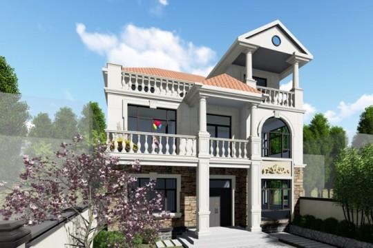 占地11x13三层挑空带露台自建别墅设计全套施工图
