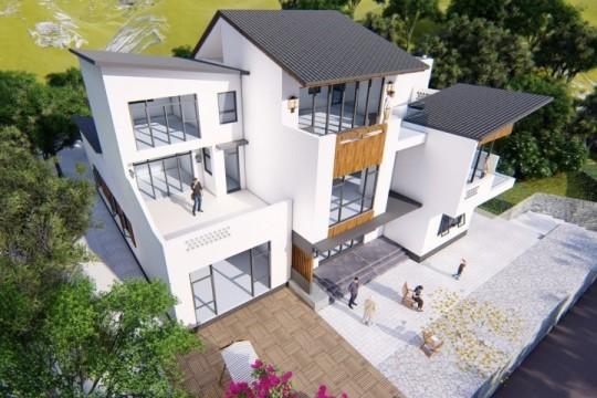 占地20x21三层带露台自建别墅设计全套施工图