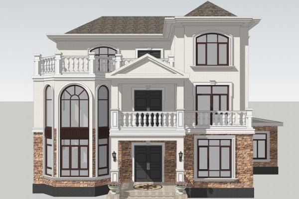 占地18x17三层带露台自建别墅设计全套施工图