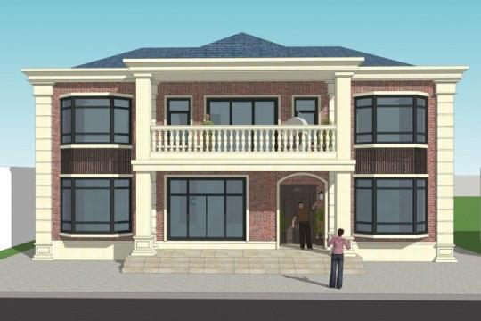 占地16x12二层欧式独栋自建别墅设计全套施工图