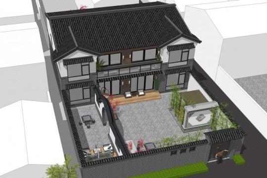 占地15x12二层带庭院自建别墅设计全套施工图