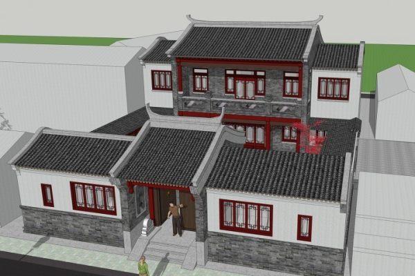 占地16x20二层带中庭自建别墅设计全套施工图