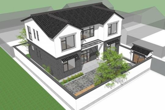 占地15x10二层带庭院自建别墅设计全套施工图