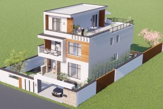 占地8x14三层带露台自建别墅设计全套施工图
