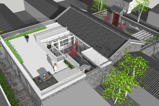 占地15x17一层带庭院自建别墅设计全套施工图