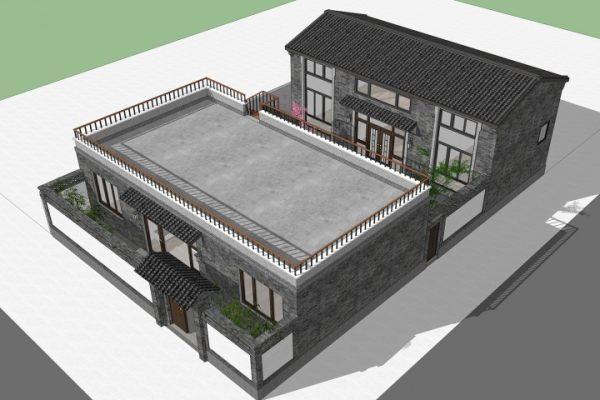 占地14x19二层带庭院自建别墅设计全套施工图