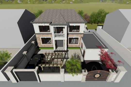 占地14x14二层带庭院自建别墅设计全套施工图